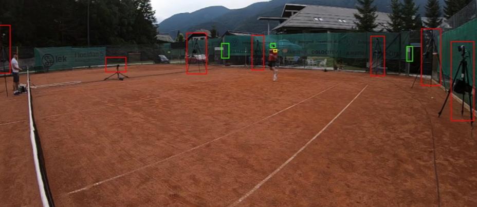 Testiranje na teniškem igrišču