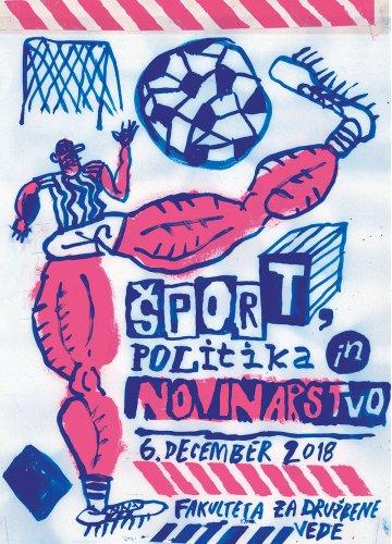 Sport politika novinarstvo plakat